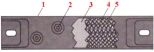 Ceramic Insulated Strip Heater Illustration