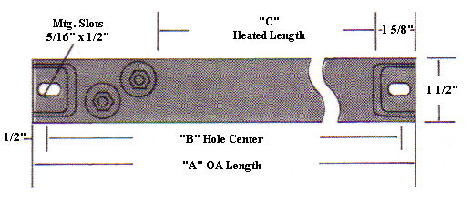 Ceramic Insulated Strip Heater Illustration 1