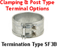 Clamping and Post Type Terminal Options for Band Heaters