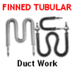 Finned Tubular Heaters For Duct Work